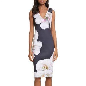 Ted Baker London Gardenia Bow Shoulder Midi Dress